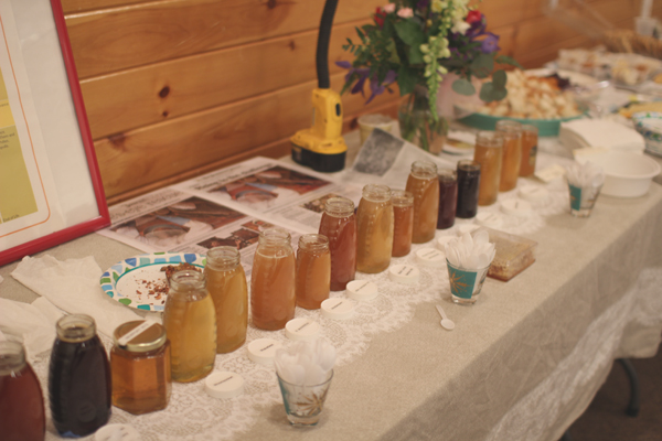 Learning about bees and tasting a variety of local honey