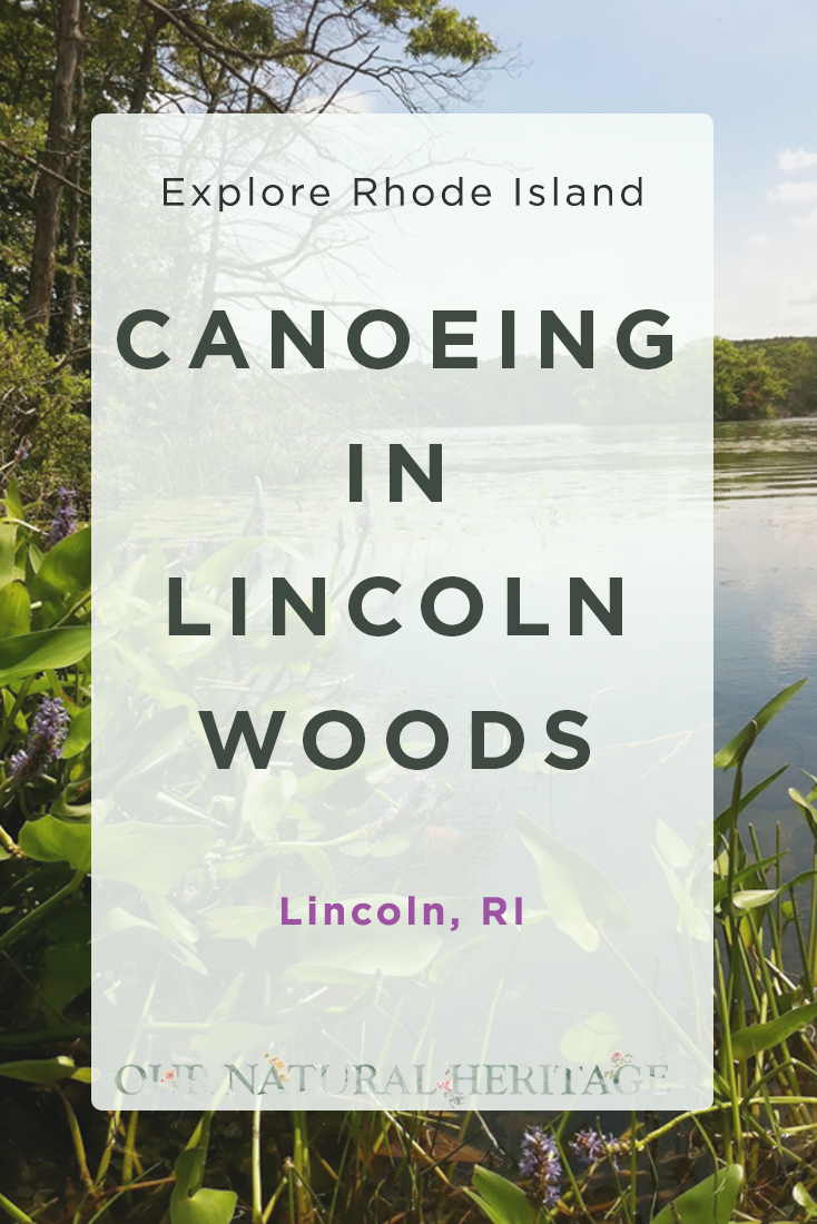 Canoeing in Lincoln Woods State Park