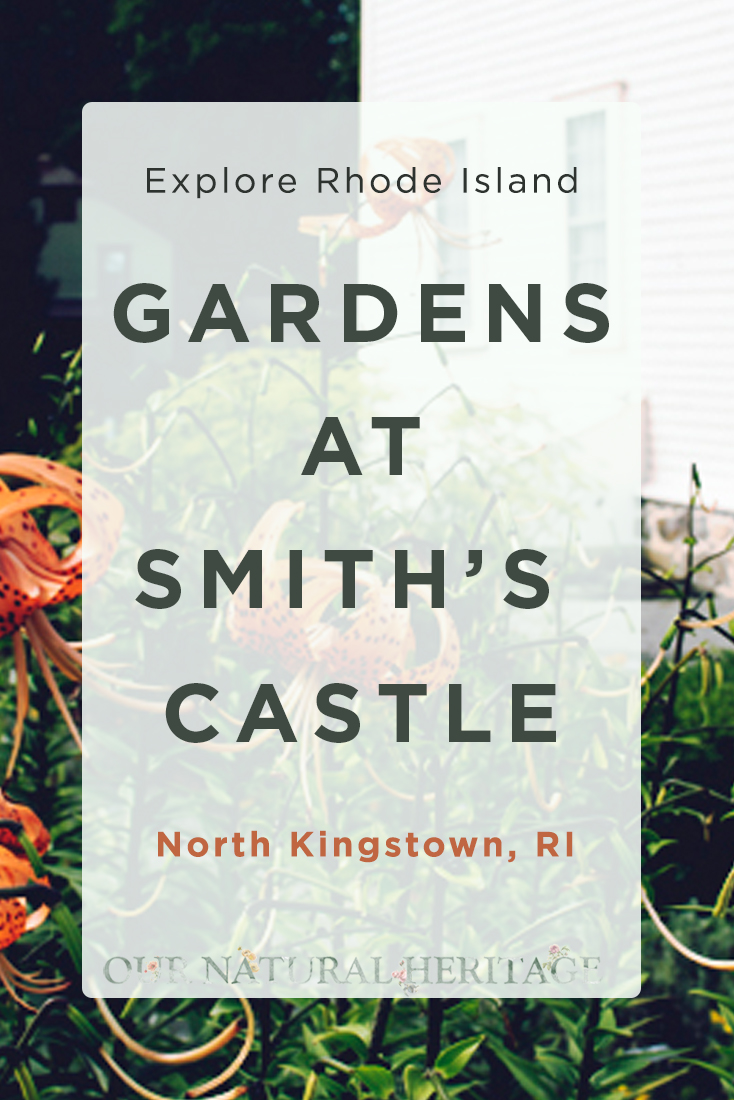 Exploring at the Gardens at Smith's Castle in North Kingstown, RI