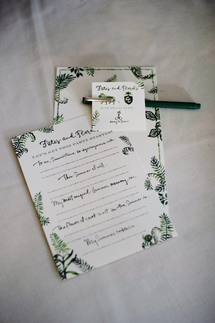 How to incorporate signature details and romantic florals to create a magical summer party, including a free printable place card template!