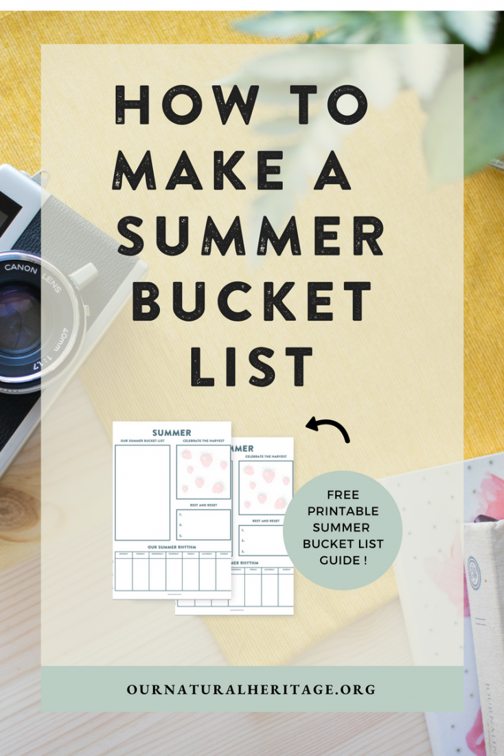 Does your family make a summer bucket list? I've made FREE printable page to help your family plan for your best summer!