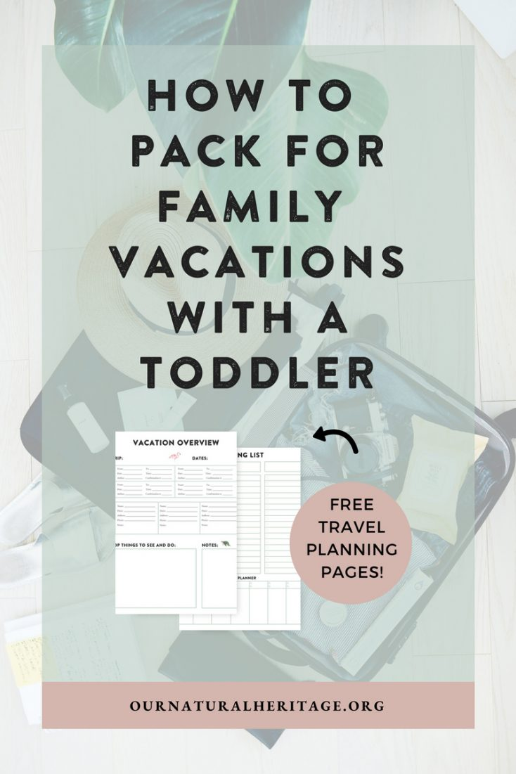 Are you traveling with a baby or toddler and aren't sure how to pack? This post details exactly how we strategized our packing and features a free printable packing planner!