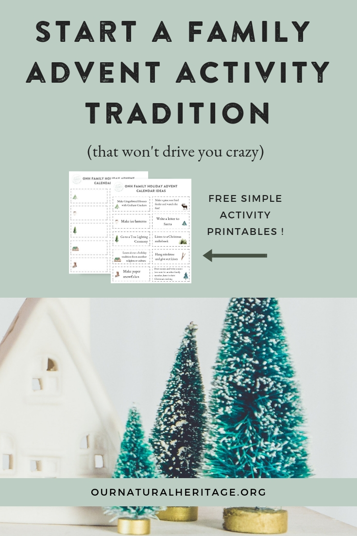 Advent Activity Ideas for Families - Here's how you can start a simple holiday tradition that will help you create wonderful memories for your family each year
